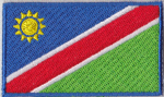 Namibia Embroidered Flag Patch, style 04